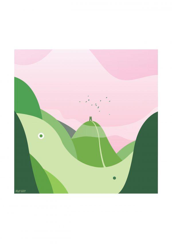 She Lives - Art of Avalon - Glastonbury Tor Art - Matt Witt